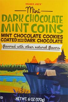Trader Joe's Dark Chocolate Mint Coins
