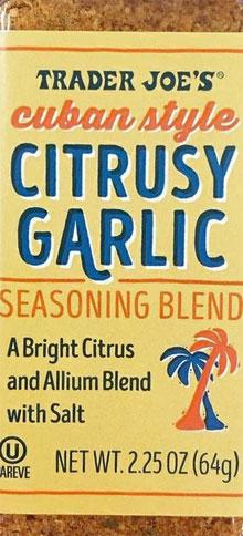 Trader Joe's Cuban Style Citrusy Garlic Seasoning Blend