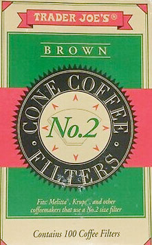 Trader Joe's No. 2 Brown Coffee Filters