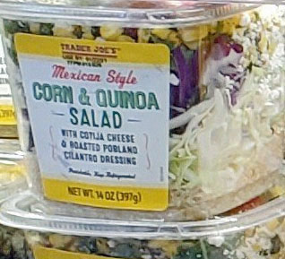 Trader Joe's Mexican Style Corn & Quinoa Salad