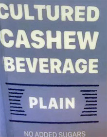 Trader Joe's Plain Cultured Cashew Beverage