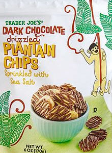 Trader Joe's Dark Chocolate Drizzled Plantain Chips Reviews