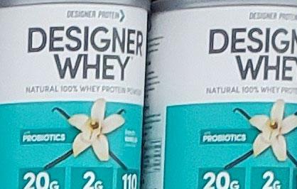 Designer Whey Vanilla Protein Powder