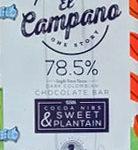 El Campano 78.5% Dark Chocolate Bar with Cocoa Nibs & Sweet Plaintain