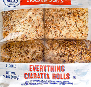 Trader Joe's Everything Ciabatta Rolls