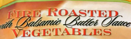 Trader Joe's Fire Roasted Vegetables with Balsamic Butter Sauce