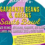 Trader Joe's Garbanzo Beans & Greens Saute Bowl