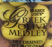Trader Joe's Greek Olive Medley