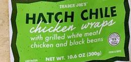 Trader Joe's Hatch Chile Chicken Wraps