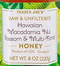 Trader Joe's Hawaiian Macadamia Nut Blossom & Multi-Floral Honey Reviews