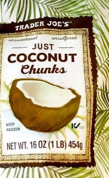 Trader Joe's Frozen Just Coconut Chunks