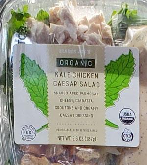 Trader Joe's Organic Kale Chicken Caesar Salad