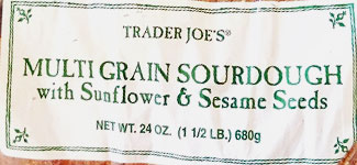 Trader Joe's Multigrain Sourdough Bread with Sunflower & Sesame Seeds Reviews