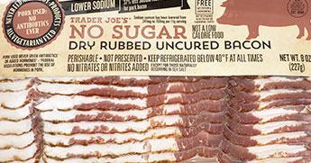 Trader Joe's No Sugar Dry Rubbed Uncured Bacon