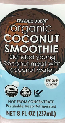 Trader Joe's Organic Coconut Smoothie
