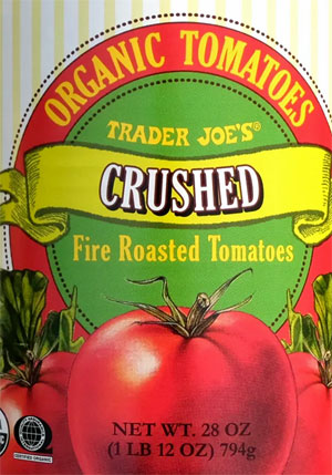 Trader Joe's Organic Crushed Fire Roasted Tomatoes
