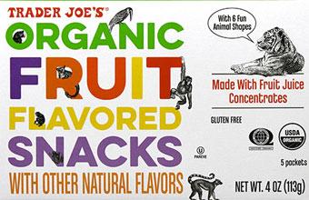 Trader Joe's Organic Fruit Flavored Snacks
