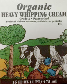 Trader Joe's Organic Heavy Whipping Cream