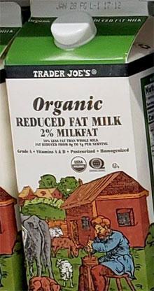 Trader Joe's Organic Reduced Fat Milk