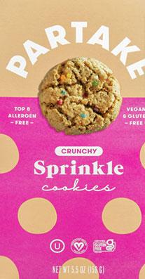 Partake Sprinkle Cookies