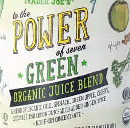 Trader Joe's to the Power of 7 Green Organic Juice Beverage