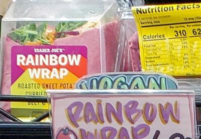 Trader Joe's Rainbow Wrap