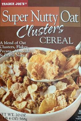 Trader Joe's Super Nutty Oat Clusters Cereal