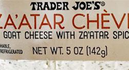 Trader Joe's Za'atar Chevre
