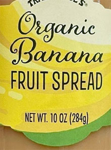 Trader Joe's Organic Banana Fruit Spread