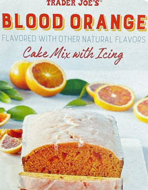 Trader Joe's Blood Orange Cake Mix with Icing