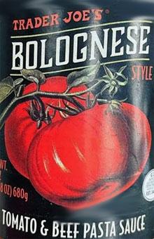 Trader Joe's Bolognese Style Tomato & Beef Pasta Sauce