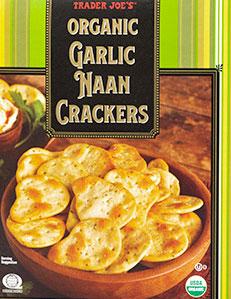 Trader Joe's Organic Garlic Naan Crackers