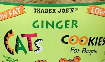 Trader Joe's Ginger Cats Cookies