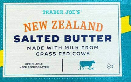 Trader Joe's New Zealand Salted Butter