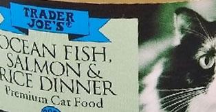 Trader Joe's Ocean Fish, Salmon & Rice Dinner Premium Cat Food