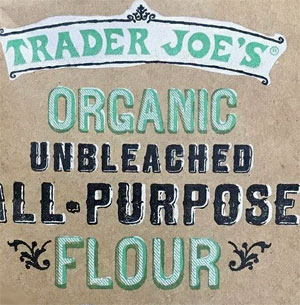 Trader Joe's Organic Unbleached All-Purpose Flour