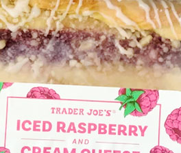 Trader Joe's Iced Raspberry and Cream Cheese Danish Strip Reviews