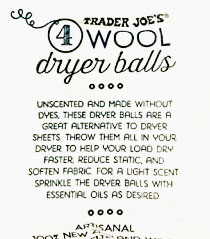 Trader Joe's 4 Wool Dryer Balls