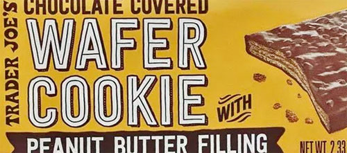 Trader Joe's Chocolate Covered Wafer Cookie with Peanut Butter Filling