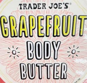 Trader Joe's Grapefruit Body Butter