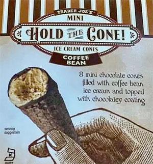 Trader Joe's Mini Coffee Bean Hold the Cone Ice Cream Cones