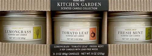 Trader Joe's Kitchen Garden Scented Candle Collection