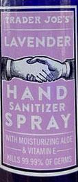 Trader Joe's Lavender Hand Sanitizer Spray