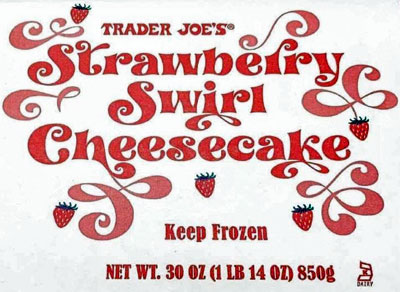 Trader Joe's Strawberry Swirl Cheesecake