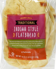 Trader Joe's Traditional Indian Style Flatbread Naan