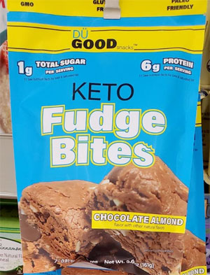 Du Good Chocolate Almond Keto Fudge Bites