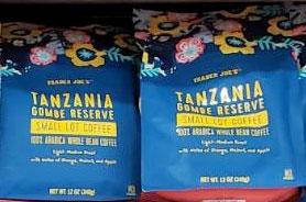 Trader Joe's Tanzania Gombe Reserve Small Lot Coffee