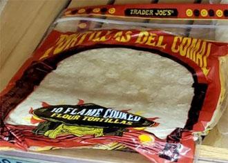 Trader Joe's Tortillas Del Comal Flame Cooked Flour Tortillas