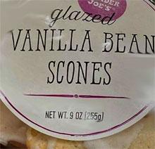 Trader Joe's Glazed Vanilla Bean Scones