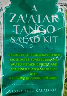 Trader Joe's Za'atar Tango Salad Kit